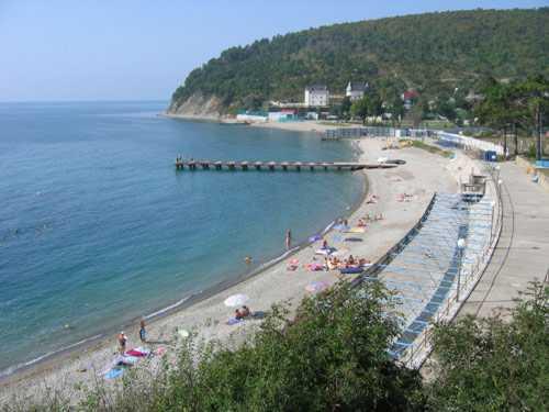 пляжа геленджик фото и голубая поселка бухта
